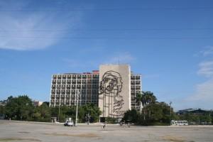 تصویر چگوارا بر کاخ ریاست جمهوری کوبا - میدان استقلال هاوانا این عکس را در سال 2004 گرفته ام